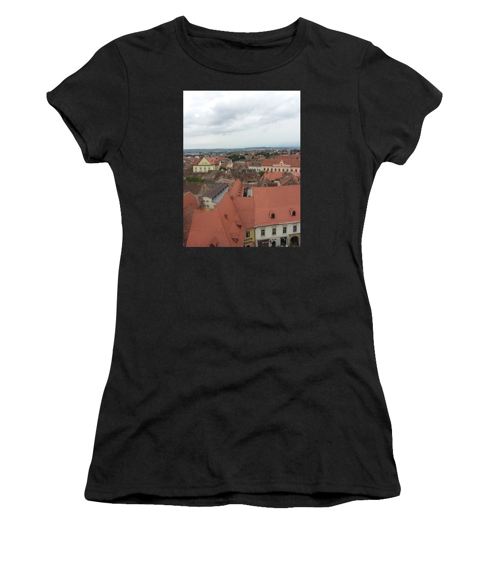 Women's T-Shirt (Athletic Fit) featuring the photograph Sibiu 3 by Gabriel Gyorfi