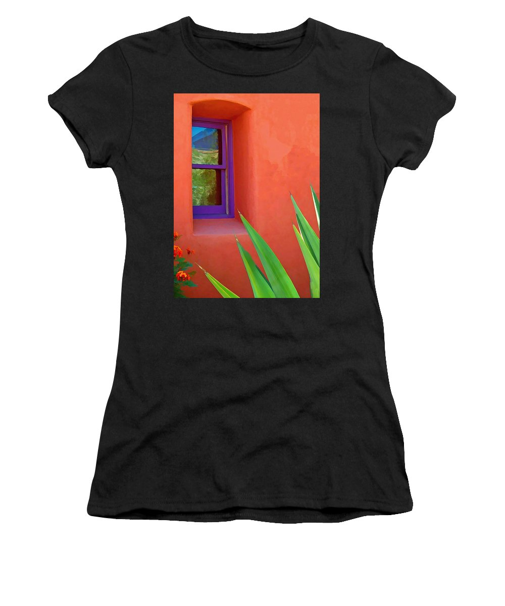Architecture New Mexico Abstract Women's T-Shirt featuring the digital art Side View by Kristin Hodges