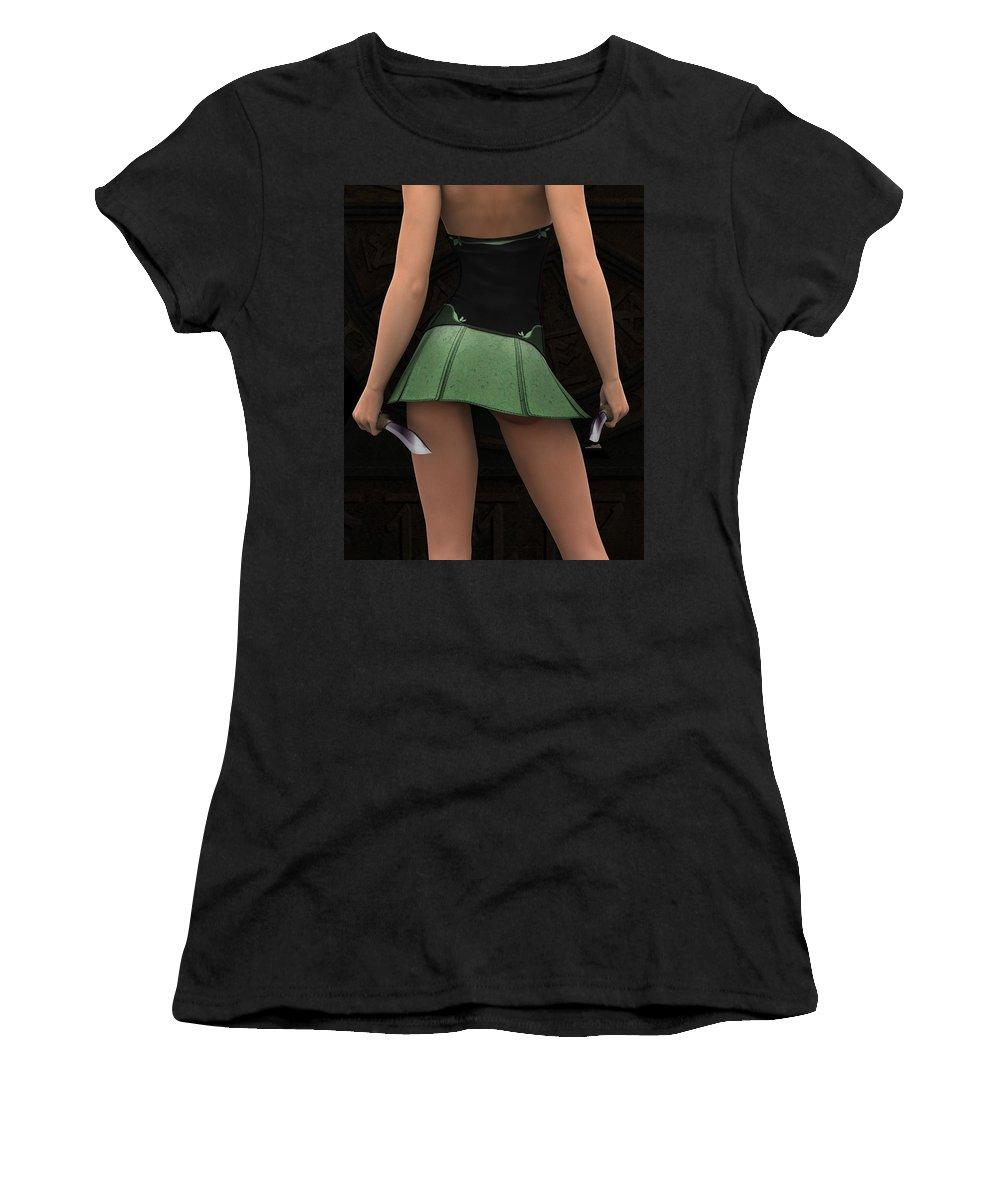 3d Women's T-Shirt (Athletic Fit) featuring the digital art Silent Wars by Alexander Butler