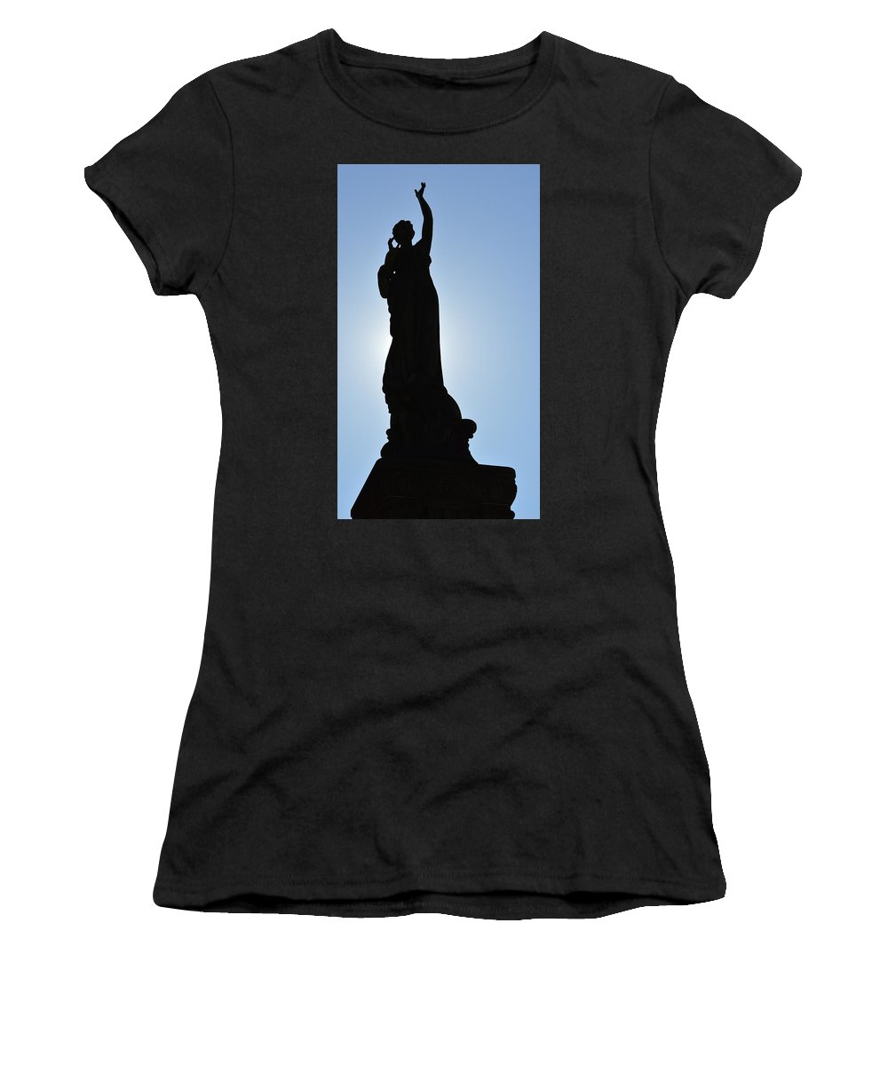 Color Women's T-Shirt (Athletic Fit) featuring the photograph Silhouette In Color by Jeff Paul