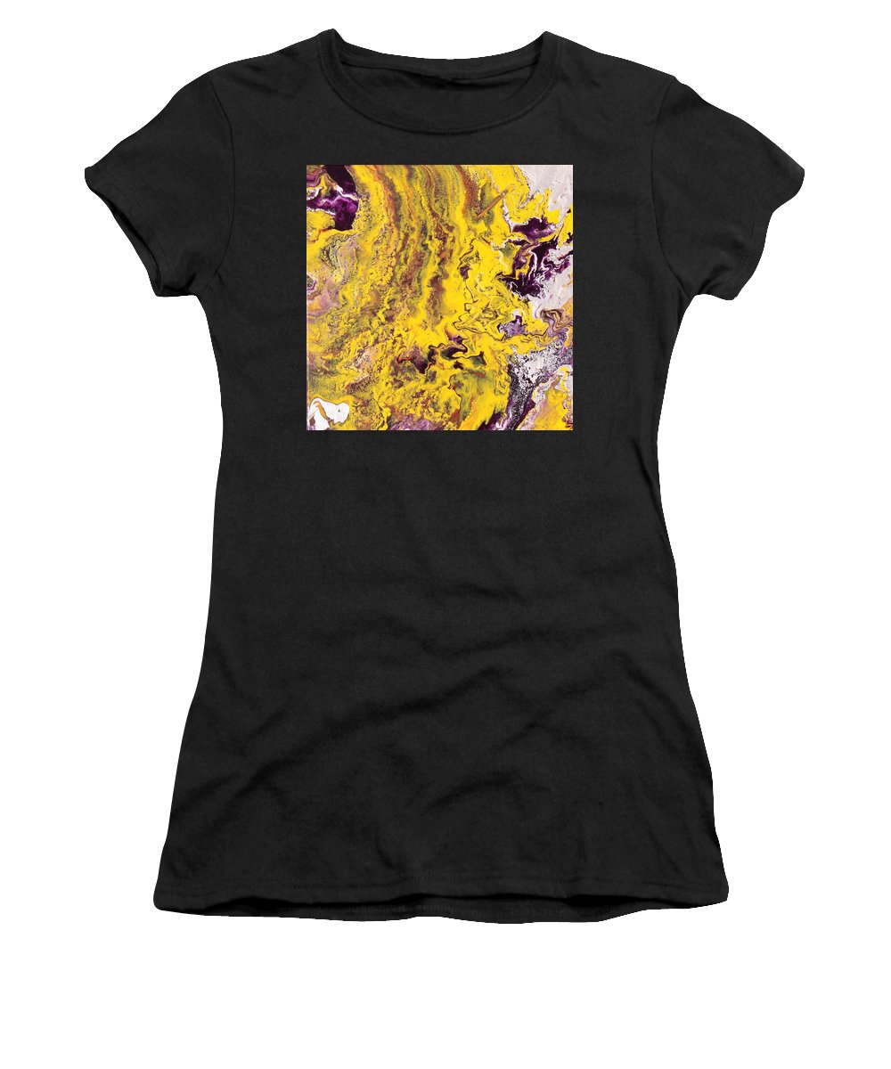 Fusionart Women's T-Shirt featuring the painting Silhouette by Ralph White