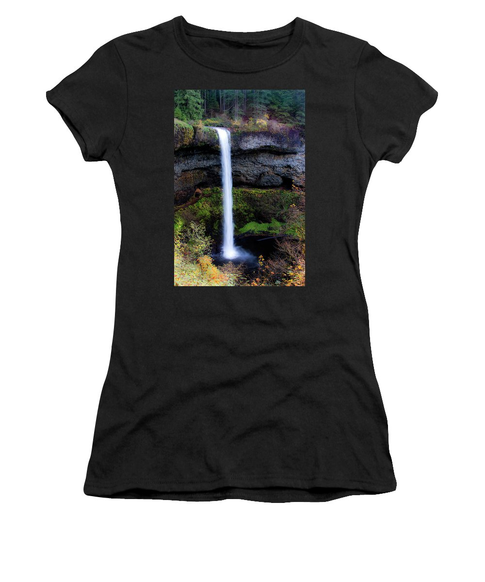 Oregon Women's T-Shirt (Athletic Fit) featuring the photograph Silver Falls State Park Oregon 4 by Lee Santa