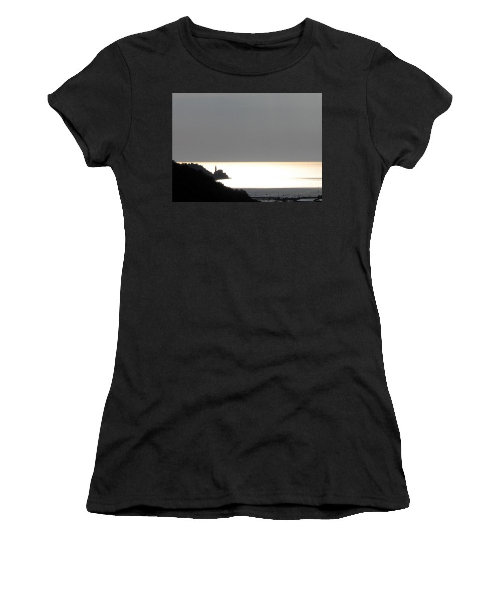 Sunset Women's T-Shirt (Athletic Fit) featuring the photograph Silvery by Dragica Micki Fortuna