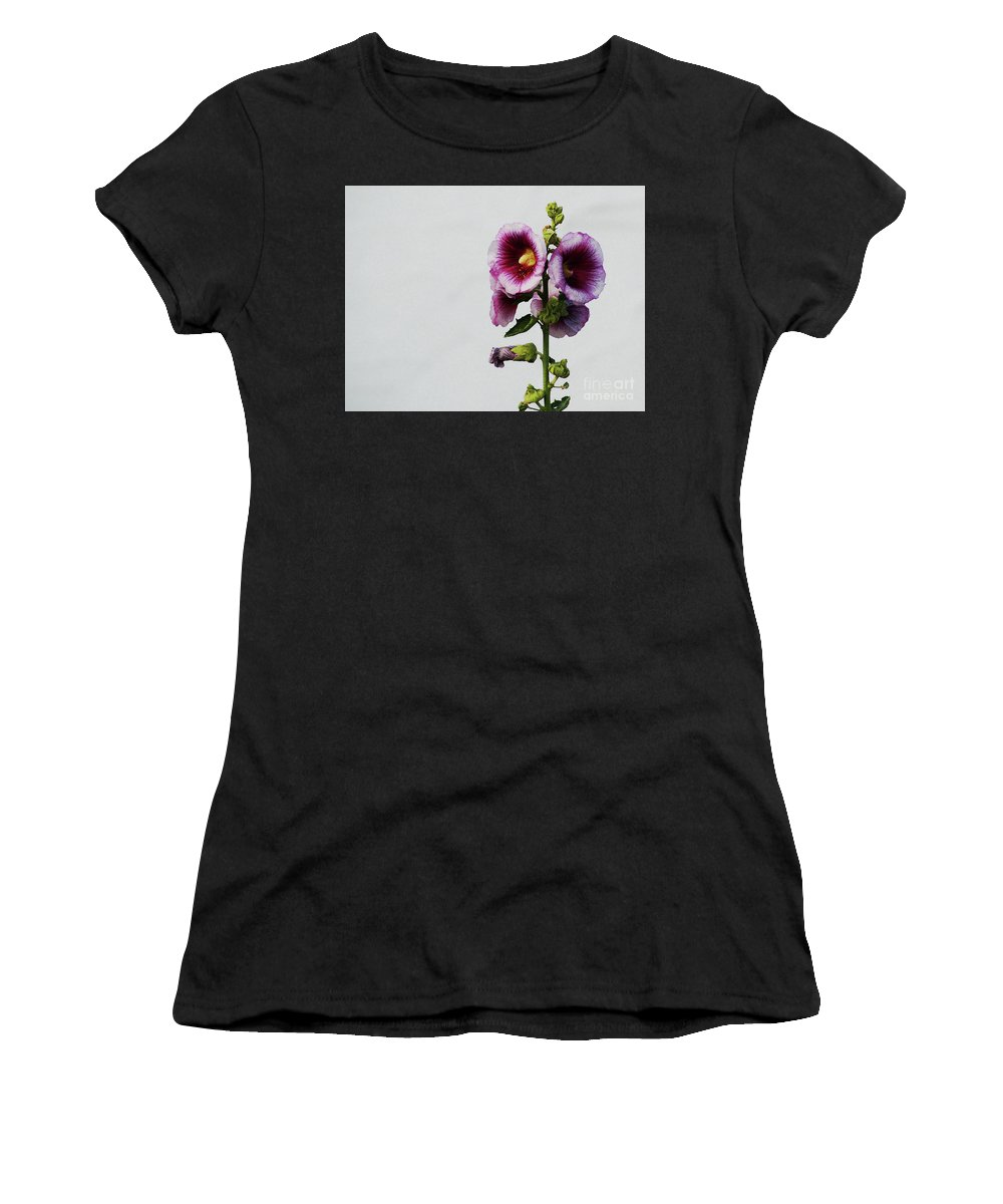 Flower Women's T-Shirt featuring the photograph Simply Stated by Linda Shafer