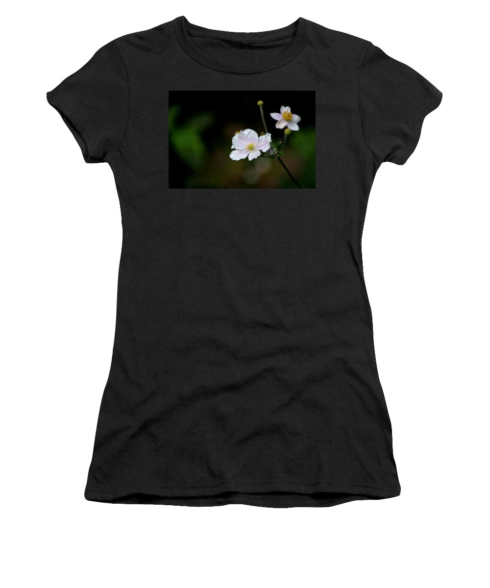 Japanese Anemone Women's T-Shirt featuring the photograph Simply Stated by Living Color Photography Lorraine Lynch