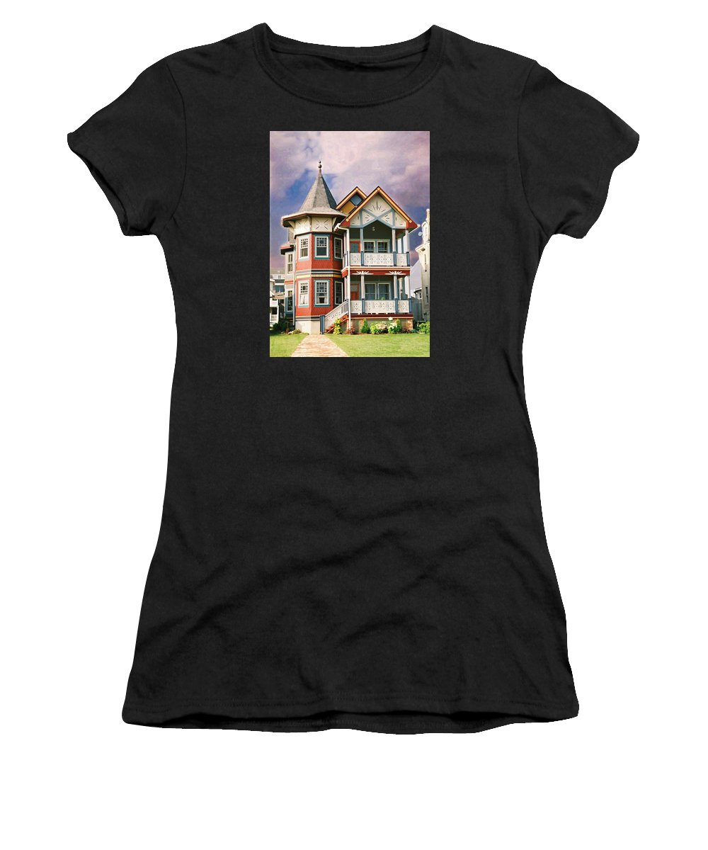 Landscape Women's T-Shirt (Athletic Fit) featuring the photograph Sisters Panel Two Of Triptych by Steve Karol