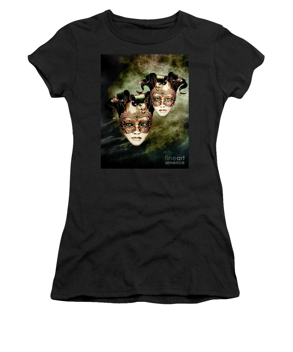 Woman Women's T-Shirt (Athletic Fit) featuring the digital art Sisters by Jacky Gerritsen