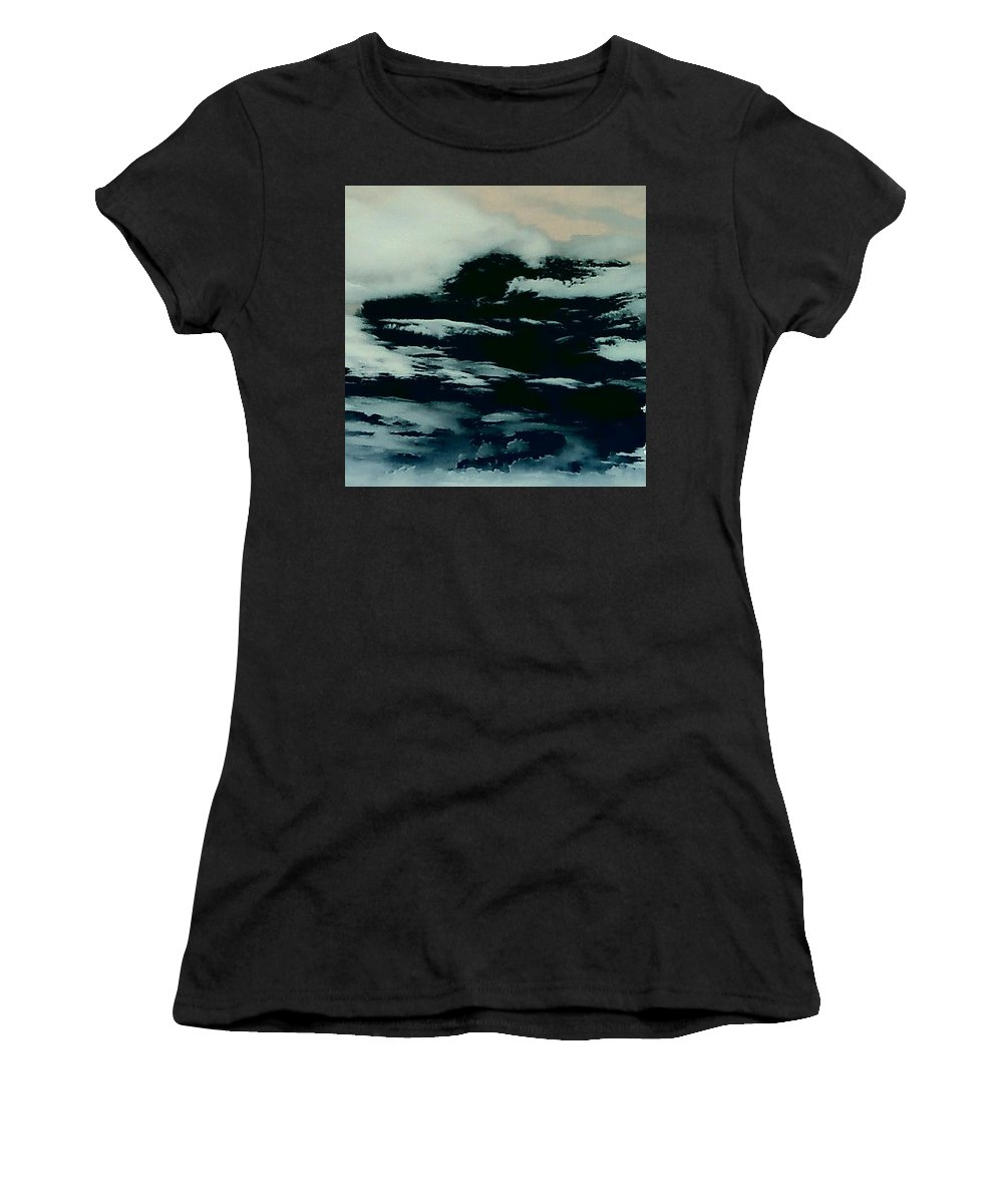 Clouds Sky Dark Women's T-Shirt featuring the photograph Sky 7 by Cindy New