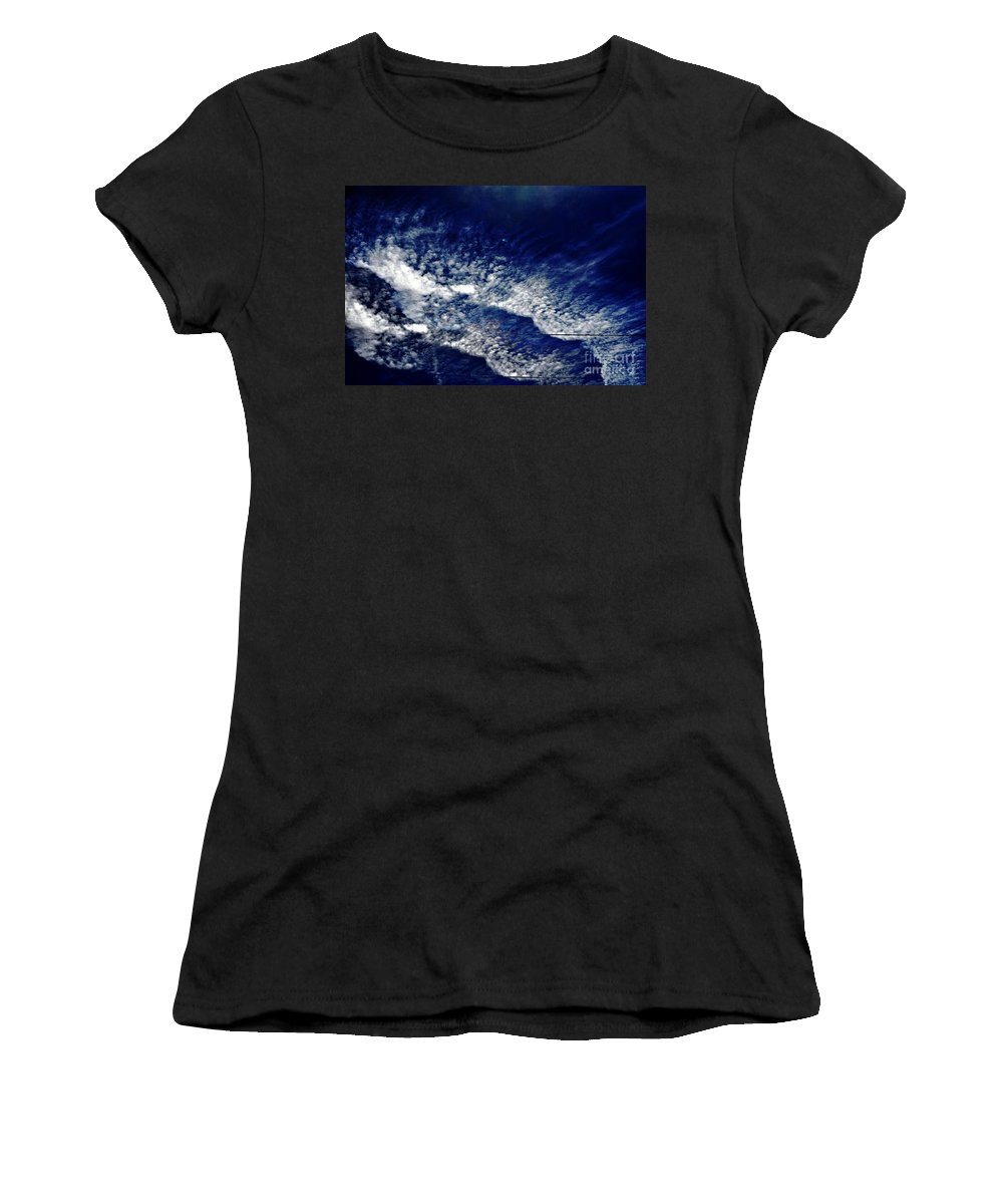 Clay Women's T-Shirt (Athletic Fit) featuring the photograph Sky Emulating The Sea by Clayton Bruster