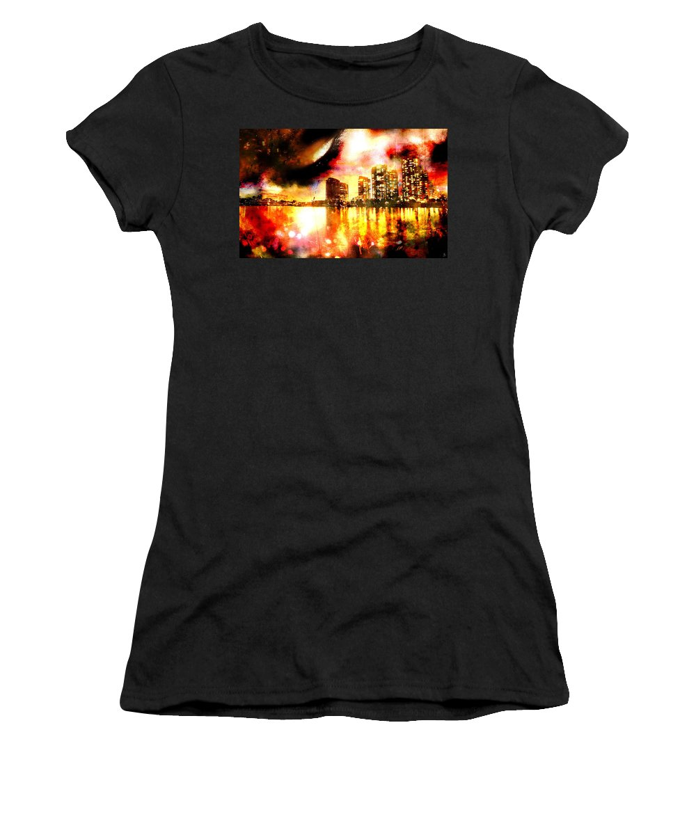 City Women's T-Shirt (Athletic Fit) featuring the photograph Sleeper by Ken Walker