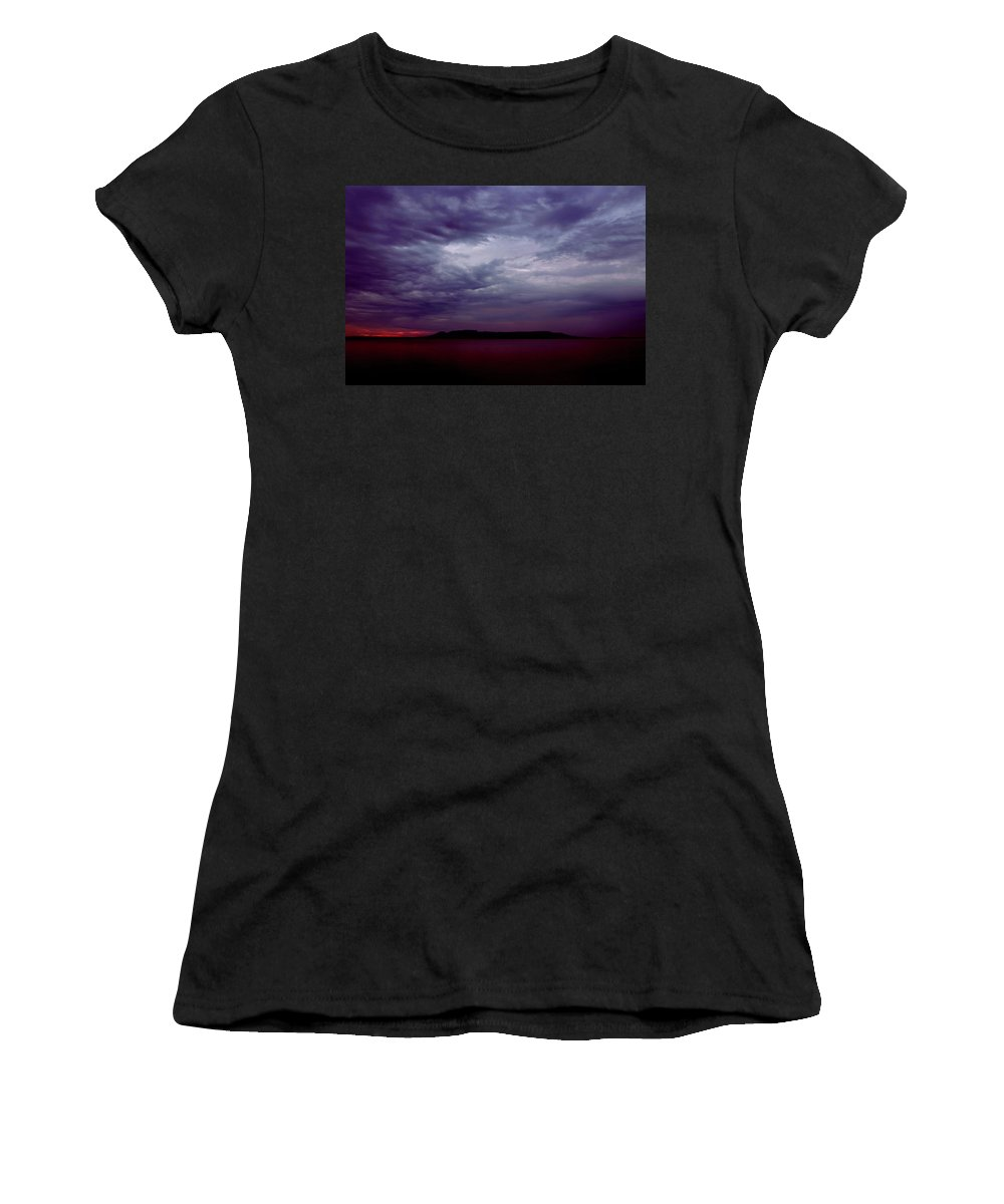 Sleeping Giant Women's T-Shirt (Athletic Fit) featuring the photograph Sleeping Giant Dawn by Tim Beebe