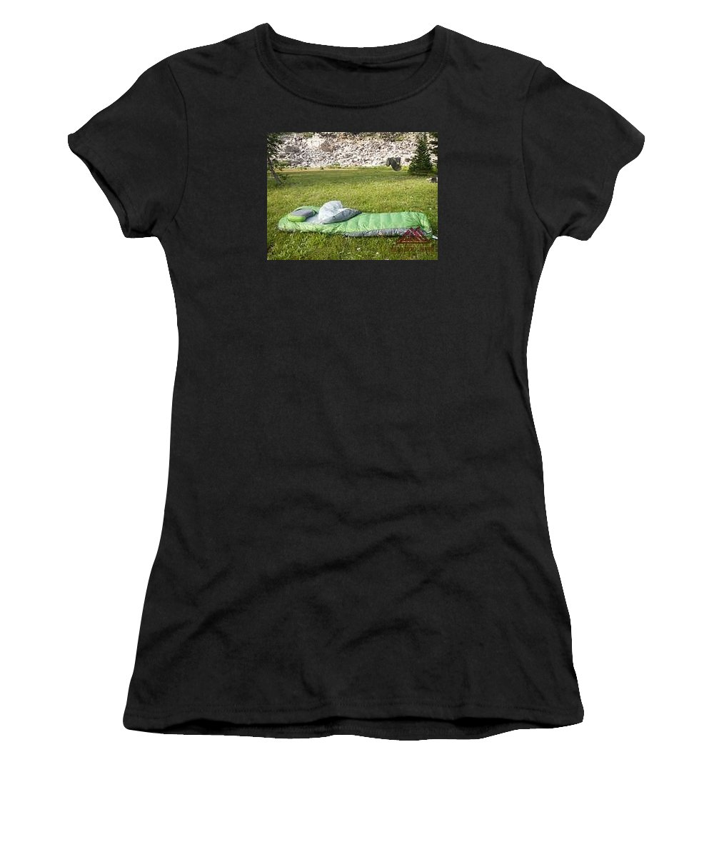 Women's T-Shirt (Athletic Fit) featuring the photograph Sleeping Pads Review by Gear Head Junkie
