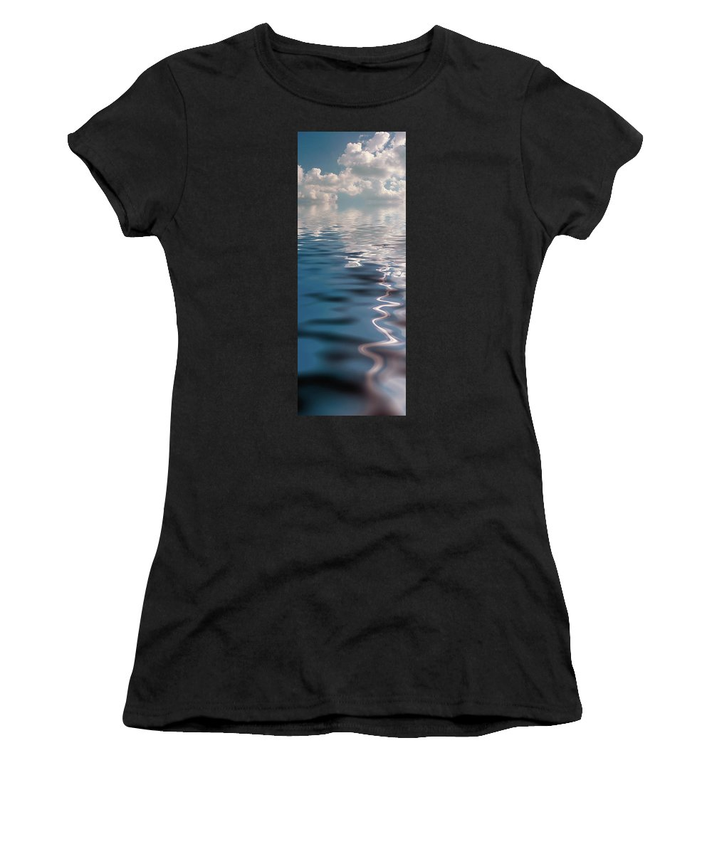 Cloud Women's T-Shirt (Athletic Fit) featuring the photograph Slice Of Life by Jerry McElroy