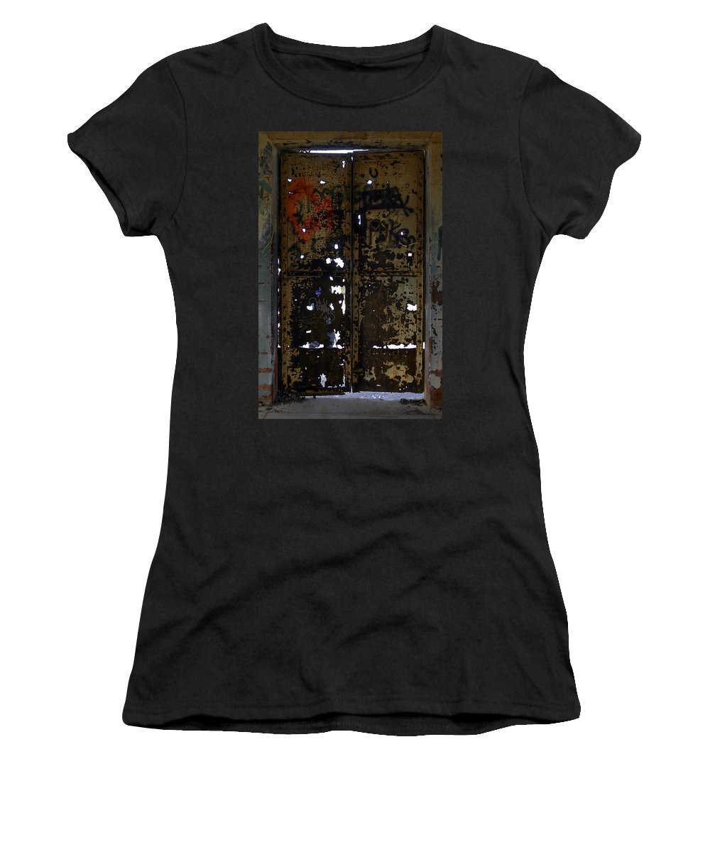 Marin Headlands Women's T-Shirt (Athletic Fit) featuring the photograph Slight Wear by Joseph Yvon Cote