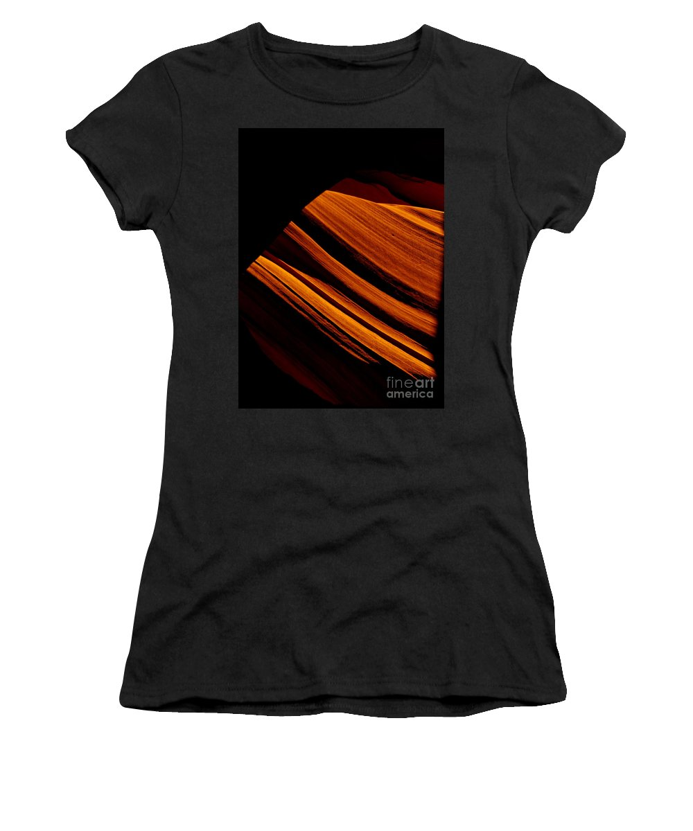 Slot Canyon Women's T-Shirt featuring the photograph Slot Canyon Striations by Scott Sawyer