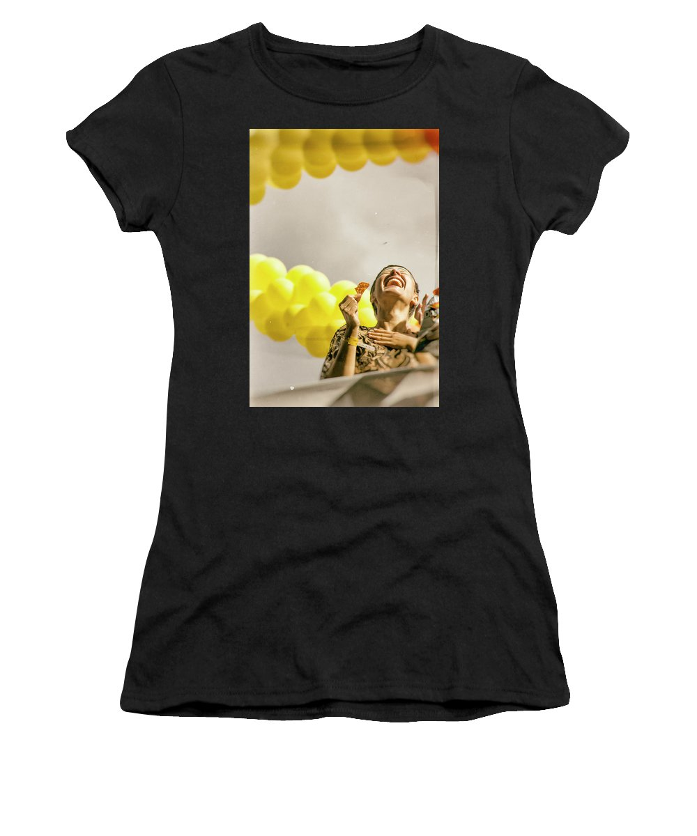 Smile Women's T-Shirt (Athletic Fit) featuring the photograph Smile by James Conway