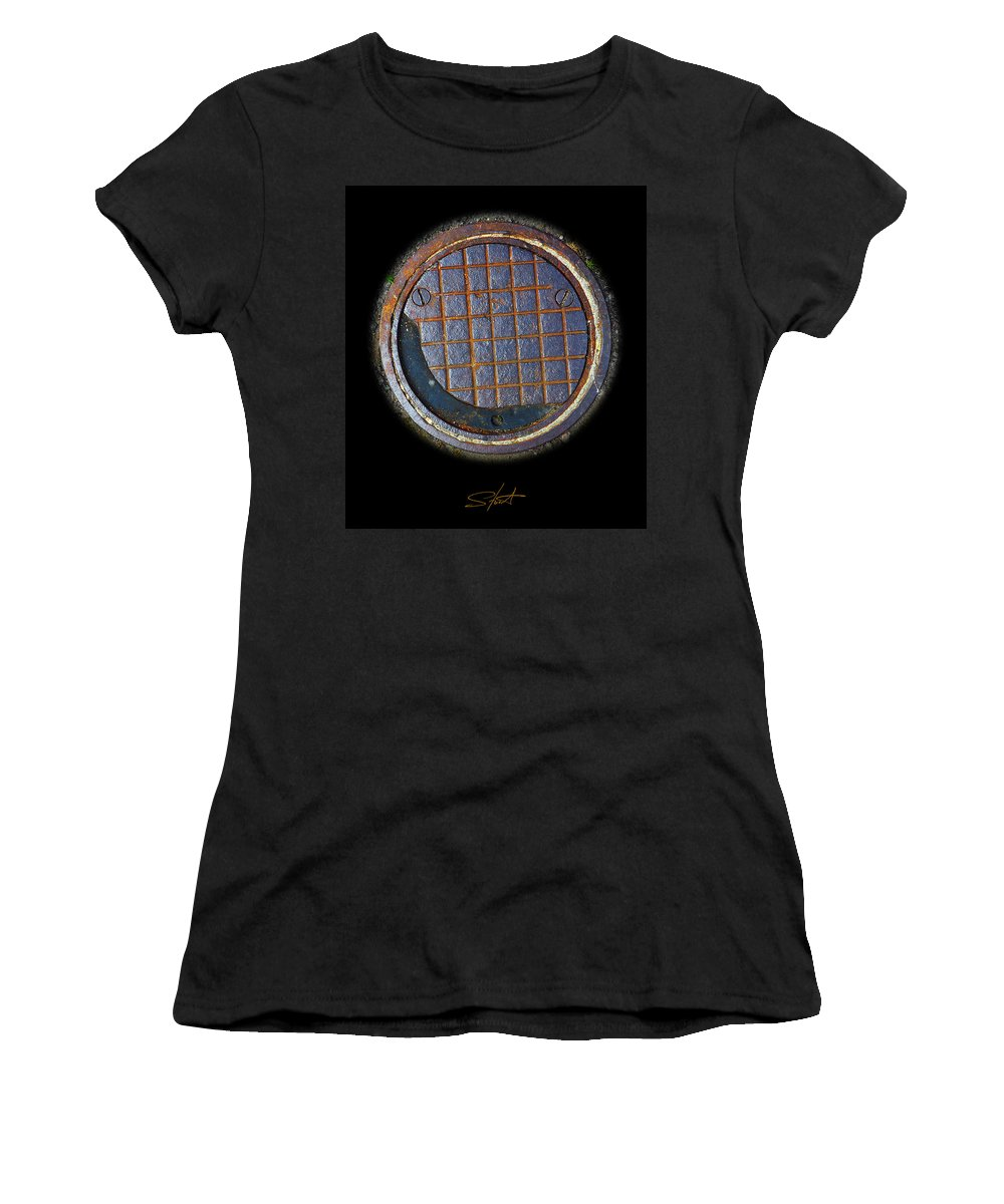 Smiley Women's T-Shirt (Athletic Fit) featuring the photograph Smiley Face by Charles Stuart