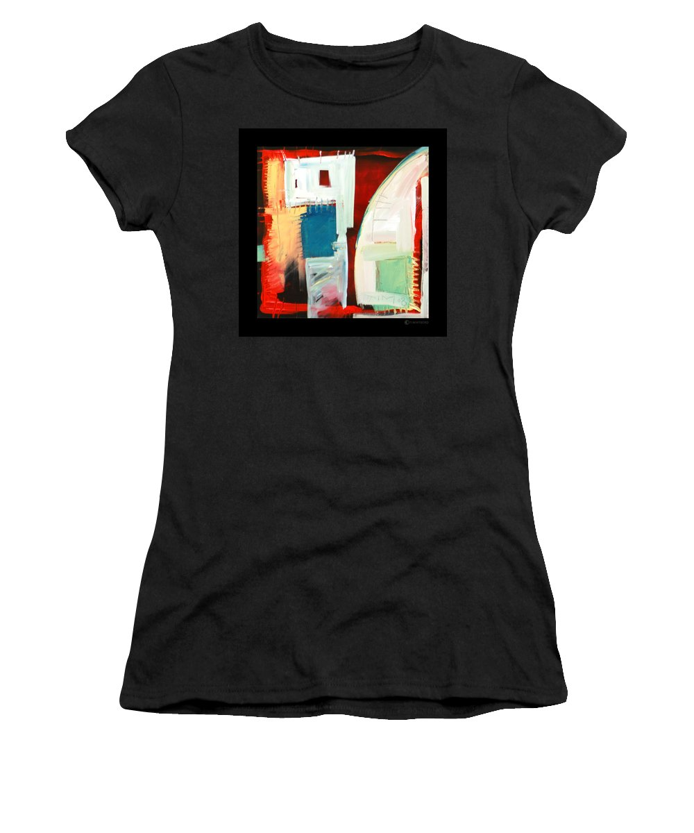 Color Women's T-Shirt (Athletic Fit) featuring the painting Smilin by Tim Nyberg