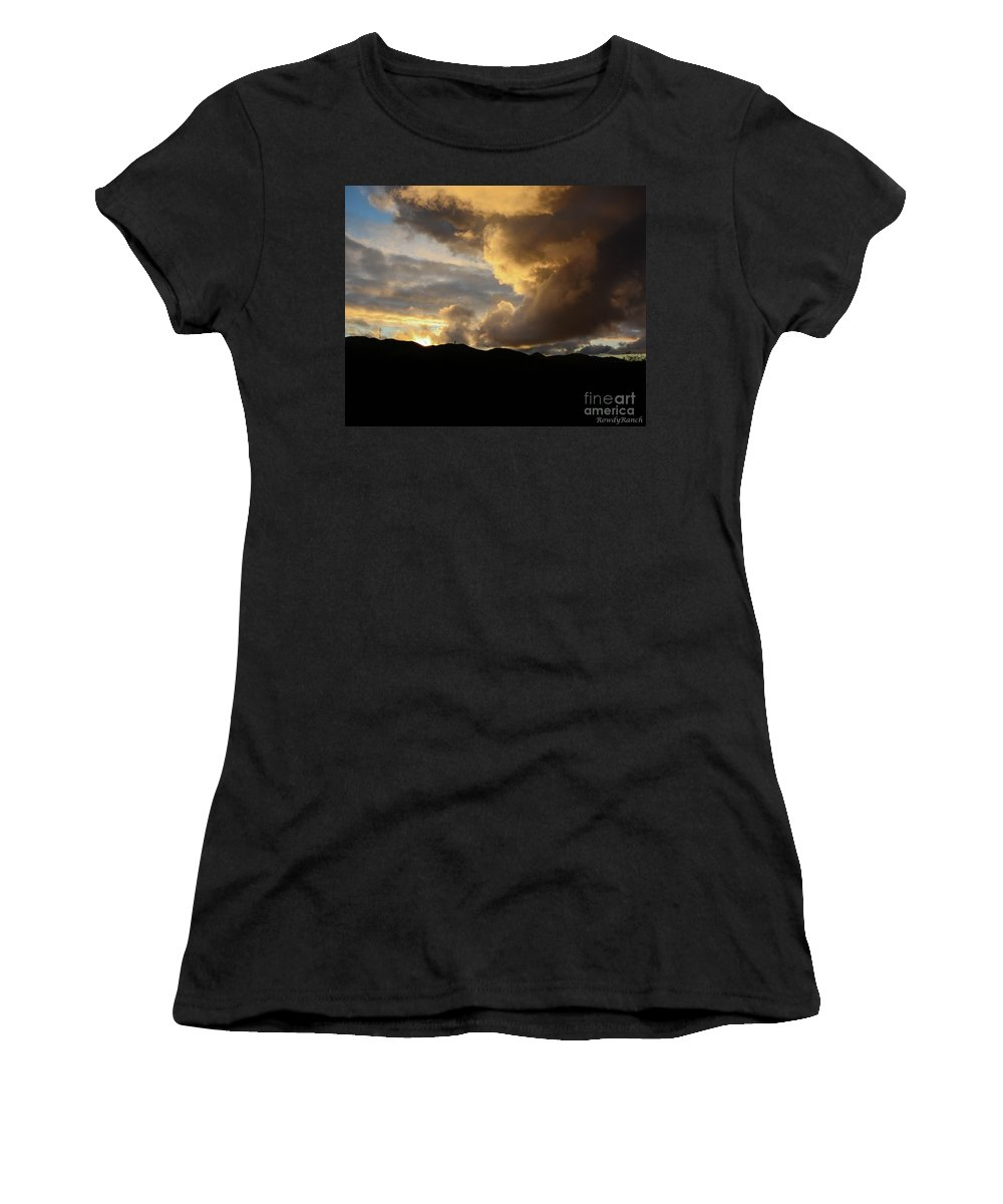 Sunset Women's T-Shirt (Athletic Fit) featuring the photograph Smoke Like Sunset by Katie Brown