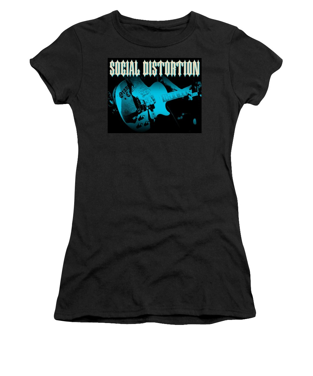 Social Distortion Women's T-Shirt (Athletic Fit) featuring the digital art Social Distortion by Mery Moon