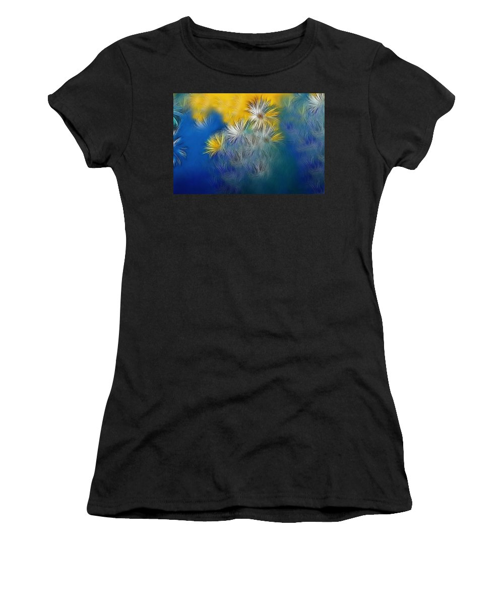Flower Women's T-Shirt (Athletic Fit) featuring the photograph Soft-flowers by Manfred Lutzius