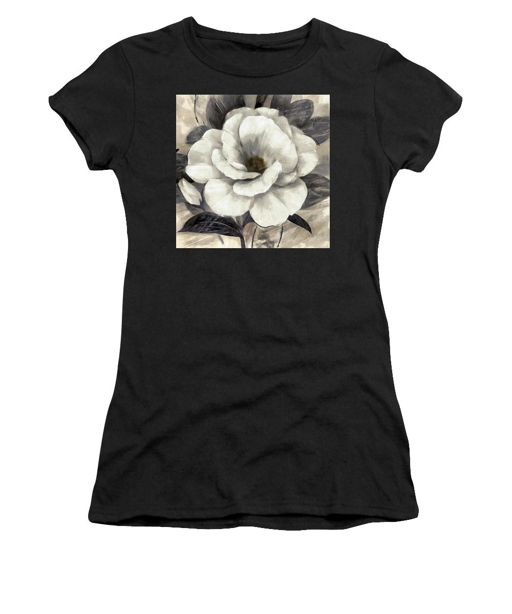 Floral Women's T-Shirt featuring the digital art Soft Petals I by Ronald Bolokofsky