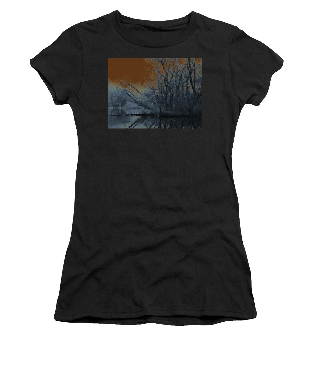 Solarization Women's T-Shirt (Athletic Fit) featuring the photograph Solarization by Kendall Eutemey