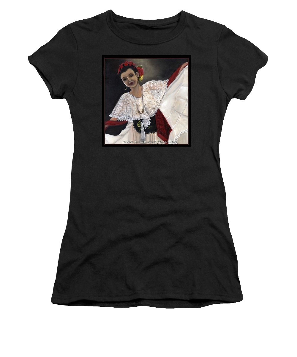 Women's T-Shirt (Athletic Fit) featuring the painting Solita by Toni Berry
