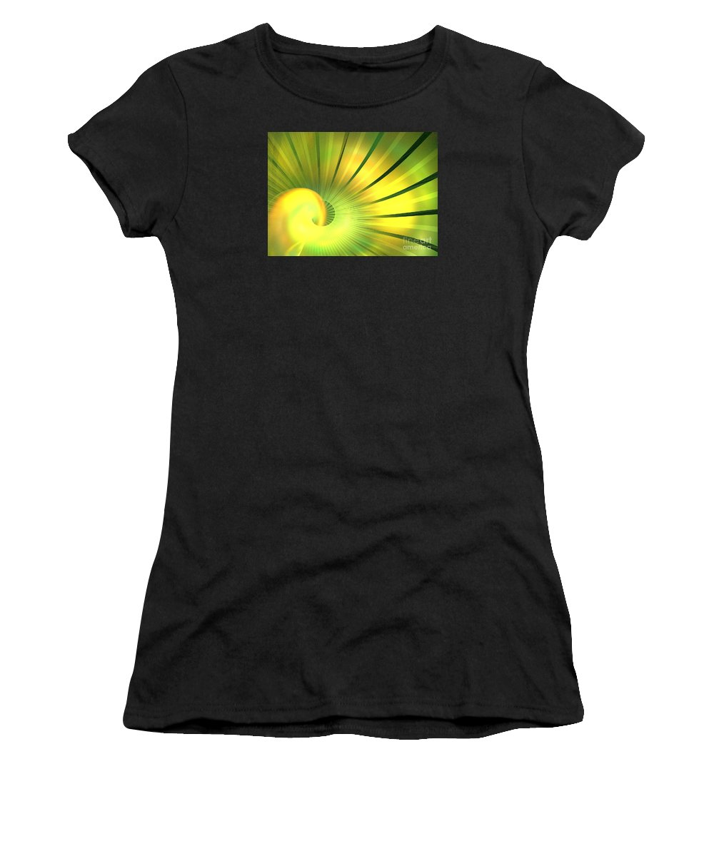 Apophysis Women's T-Shirt (Athletic Fit) featuring the digital art Solstice by Kim Sy Ok