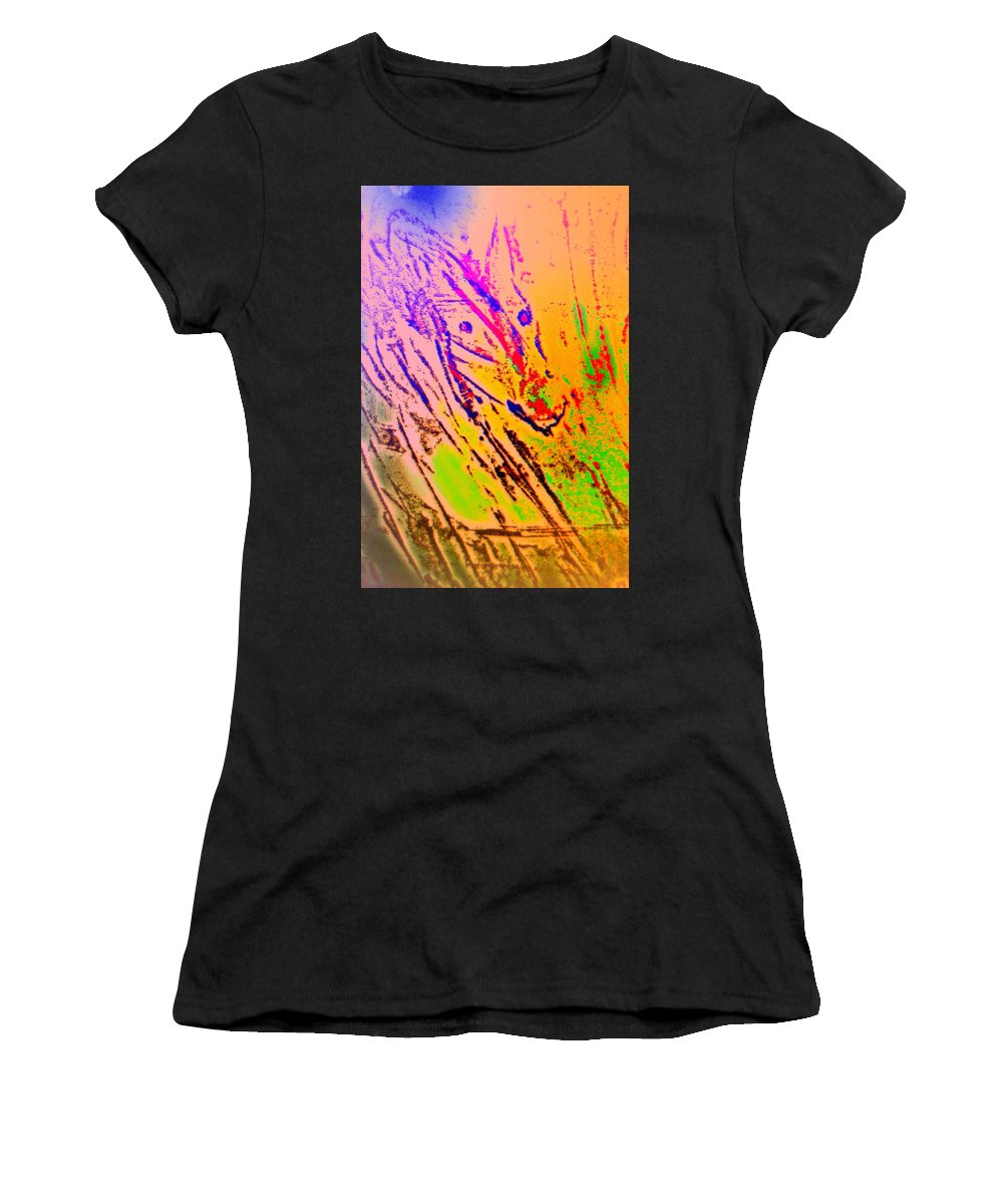 Dance Women's T-Shirt featuring the painting Some From The Red Team by Hilde Widerberg