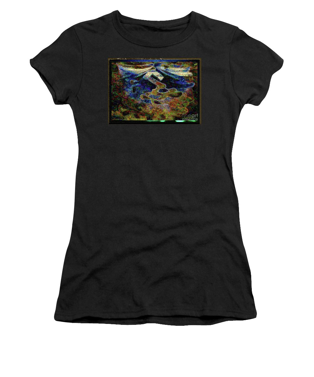 Chromatic Poetics Women's T-Shirt featuring the digital art Song Of Love And Compassion by Aberjhani