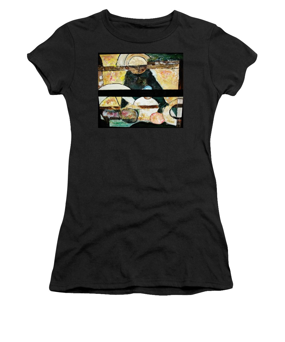 Acrylic Painting Women's T-Shirt (Athletic Fit) featuring the painting Soul Mate by Yael VanGruber