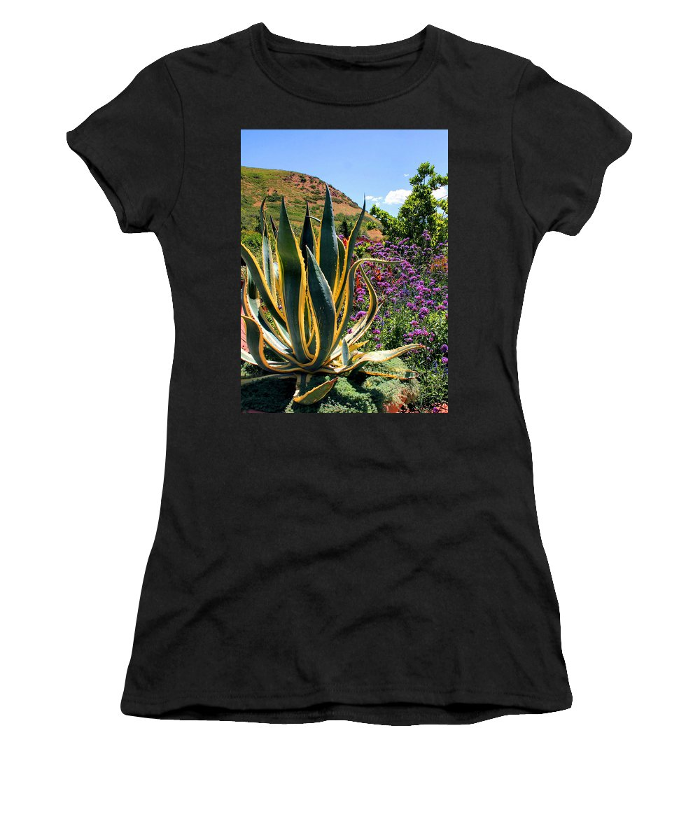 Cactus Women's T-Shirt (Athletic Fit) featuring the photograph Southwest Arrangement by Kristin Elmquist