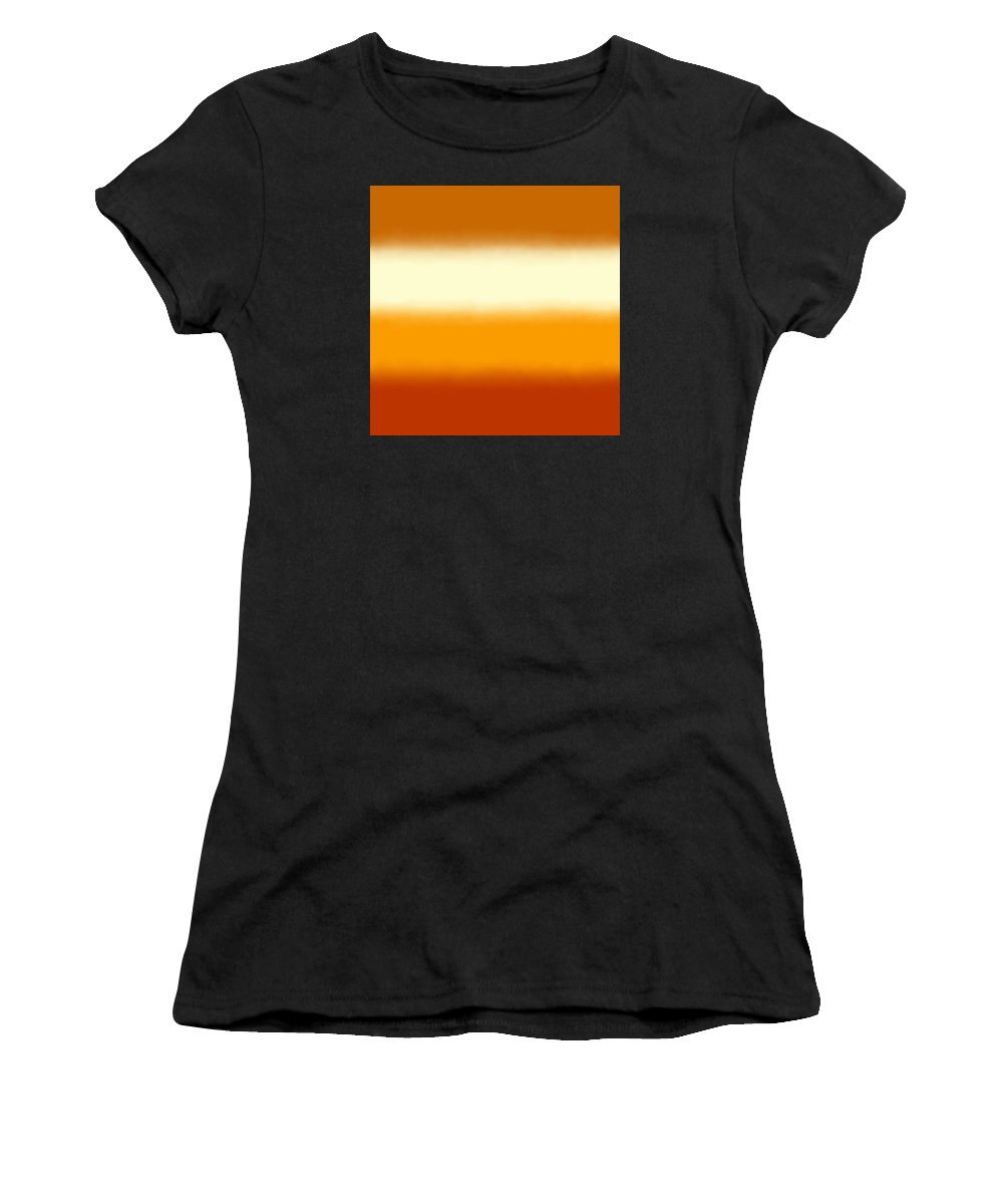 Southwest Desert - Abstract Women's T-Shirt (Athletic Fit) featuring the digital art Southwest Desert - Sq Block by Custom Home Fashions