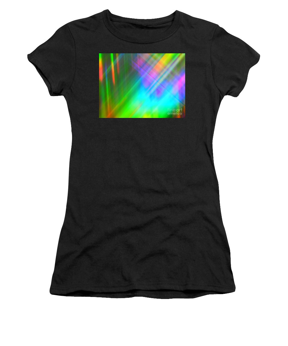 Abstract Women's T-Shirt (Athletic Fit) featuring the photograph Spectra Wonder by Lilian F Norris
