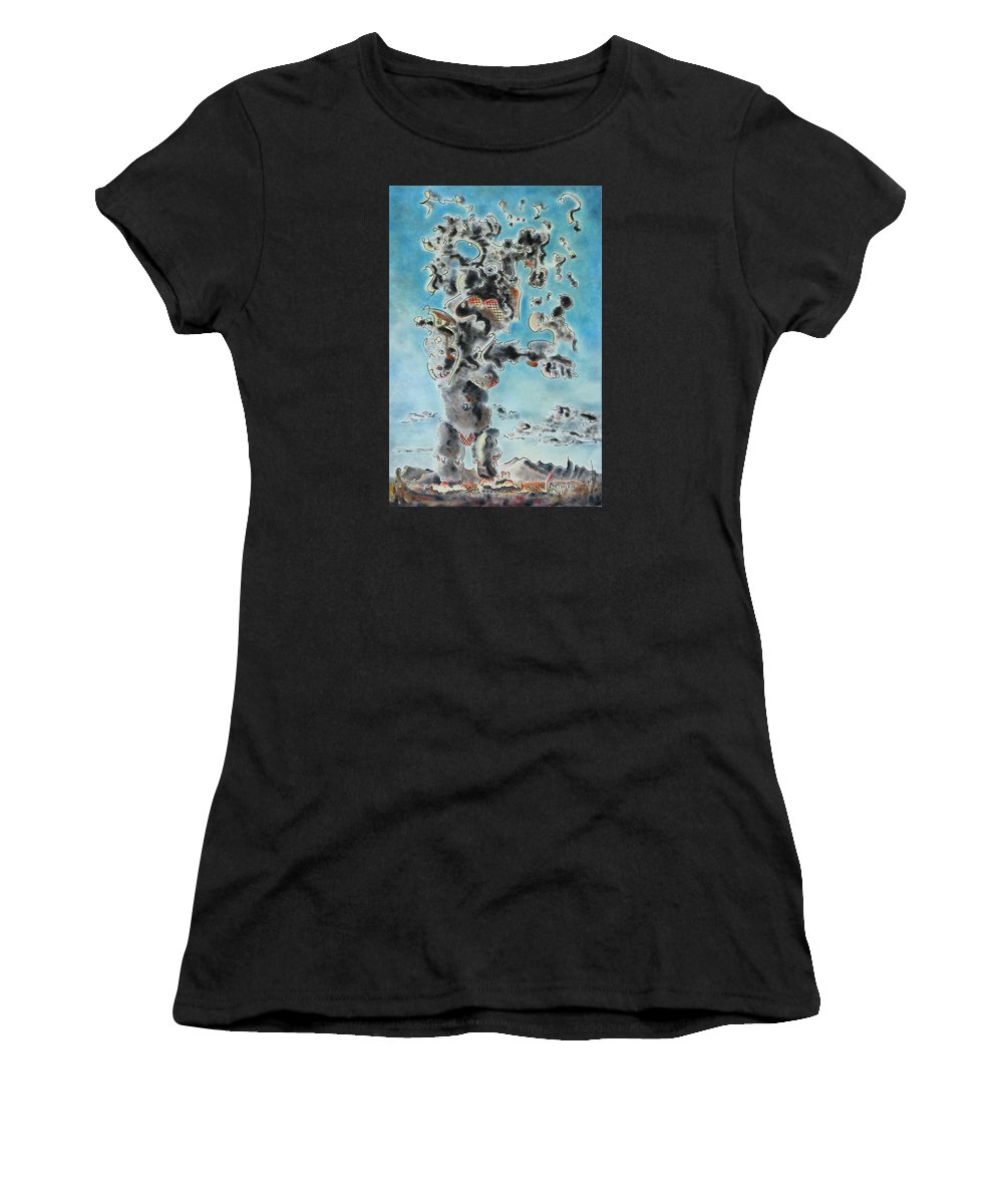Surreal Women's T-Shirt featuring the painting Spectre by Dave Martsolf