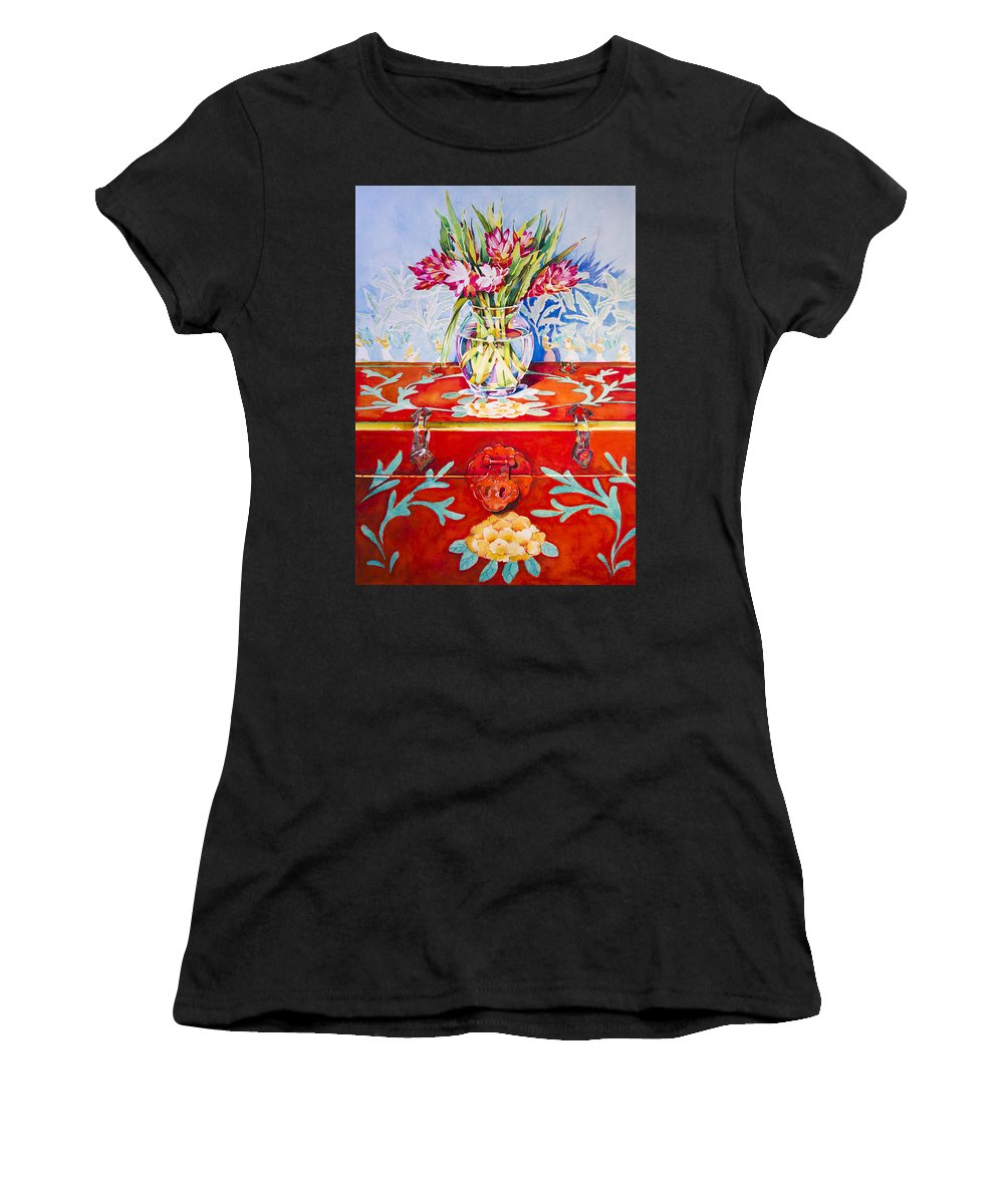 Ginger Women's T-Shirt featuring the painting Spice Trade by Penny Taylor-Beardow