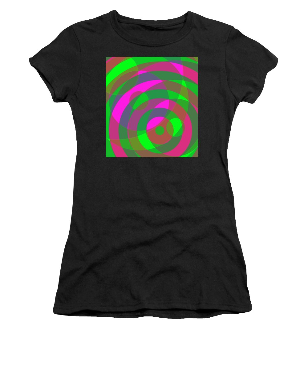 Spin Women's T-Shirt (Athletic Fit) featuring the digital art Spin 3 by Julia Woodman