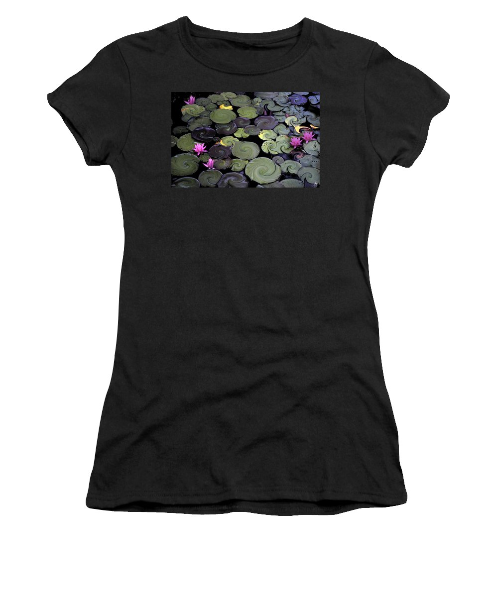 Lily Women's T-Shirt featuring the photograph Spinning Lilies by Wayne King
