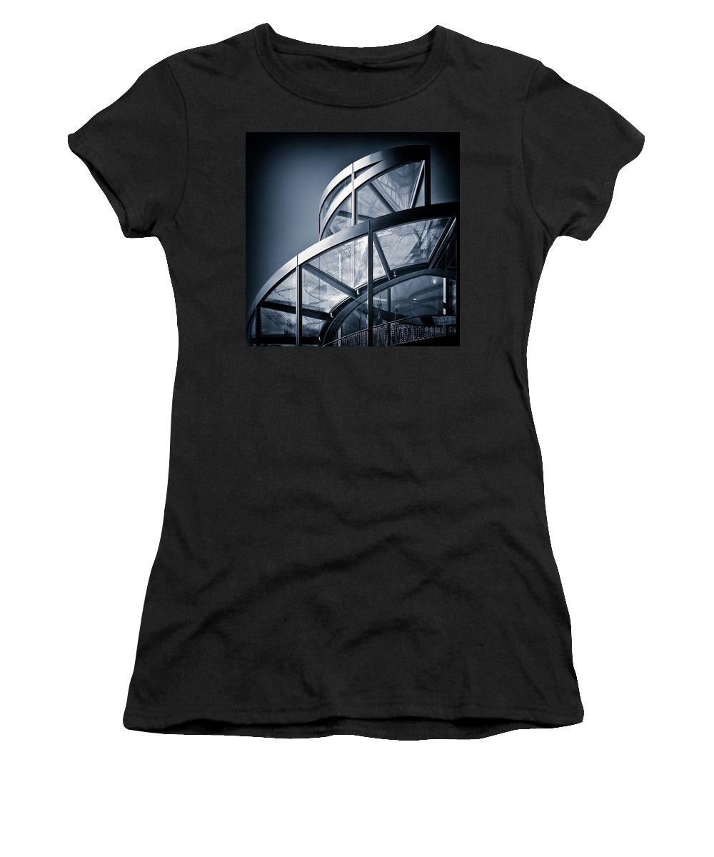 Spiral Women's T-Shirt (Athletic Fit) featuring the photograph Spiral Staircase by Dave Bowman