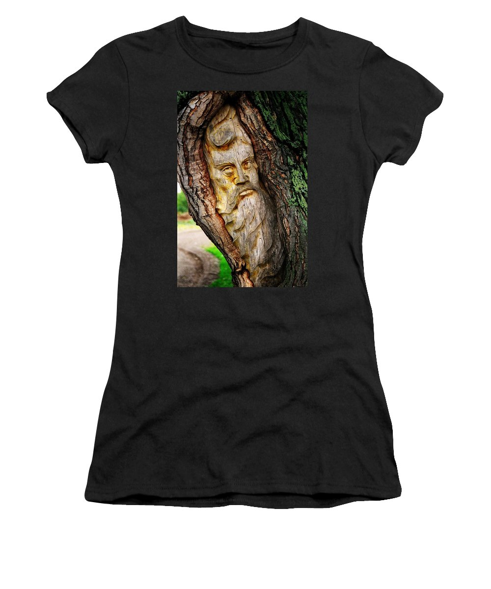 North America Women's T-Shirt (Athletic Fit) featuring the photograph Spirit Of The Forest ... by Juergen Weiss