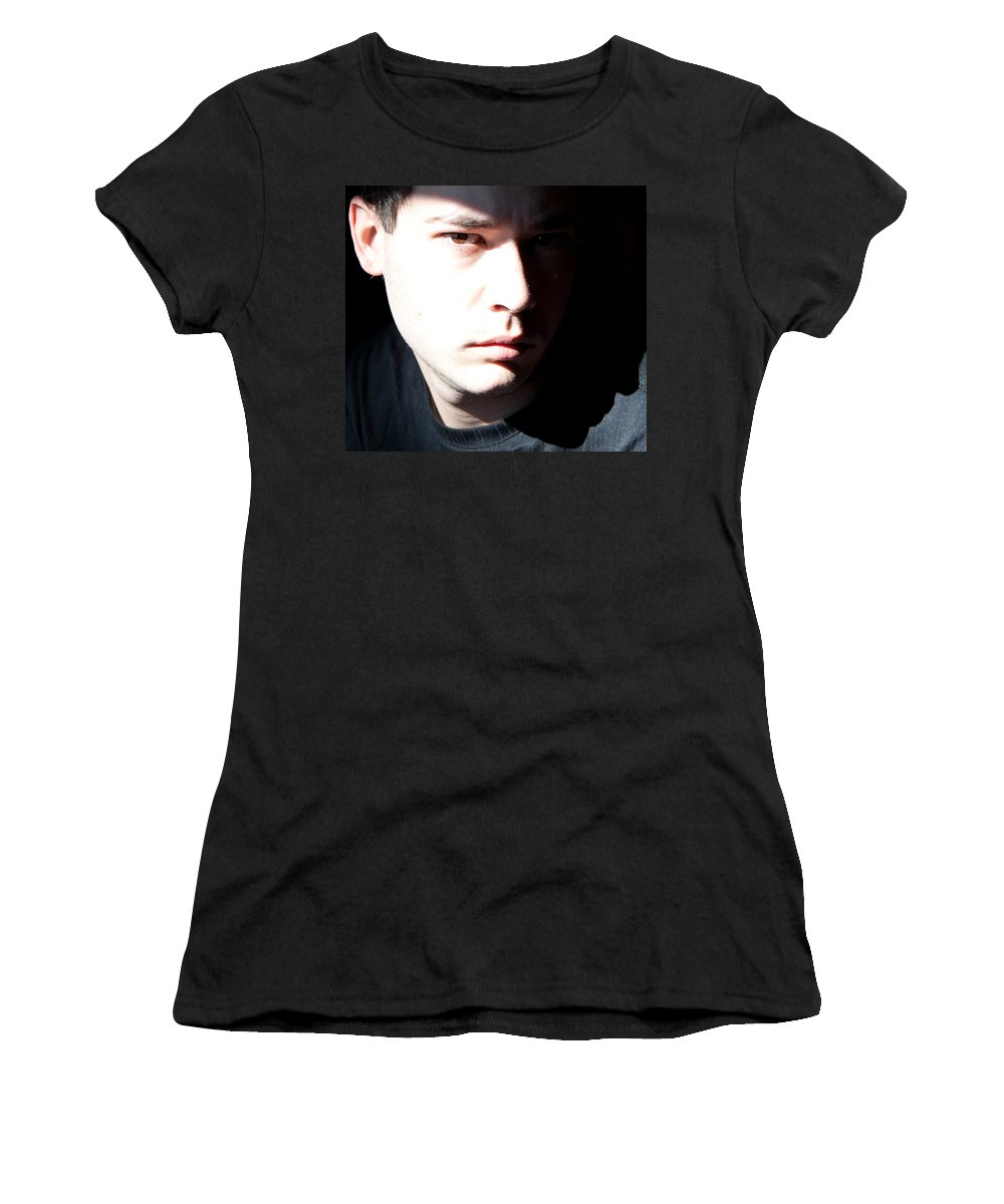 Josh Elliott Women's T-Shirt (Athletic Fit) featuring the photograph Split Face by Angus Hooper Iii