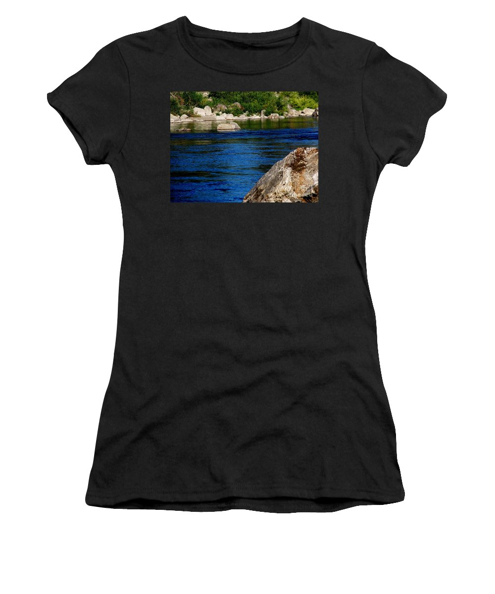 Patzer Women's T-Shirt (Athletic Fit) featuring the photograph Spokane River by Greg Patzer