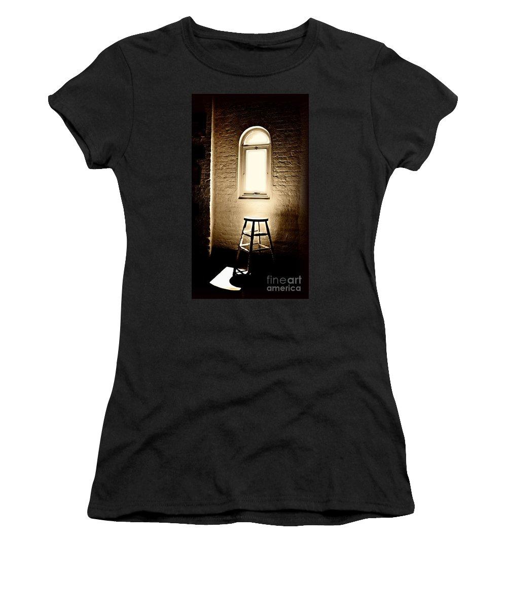 Spotlight Women's T-Shirt featuring the digital art Spotlight by Nigel Bangert