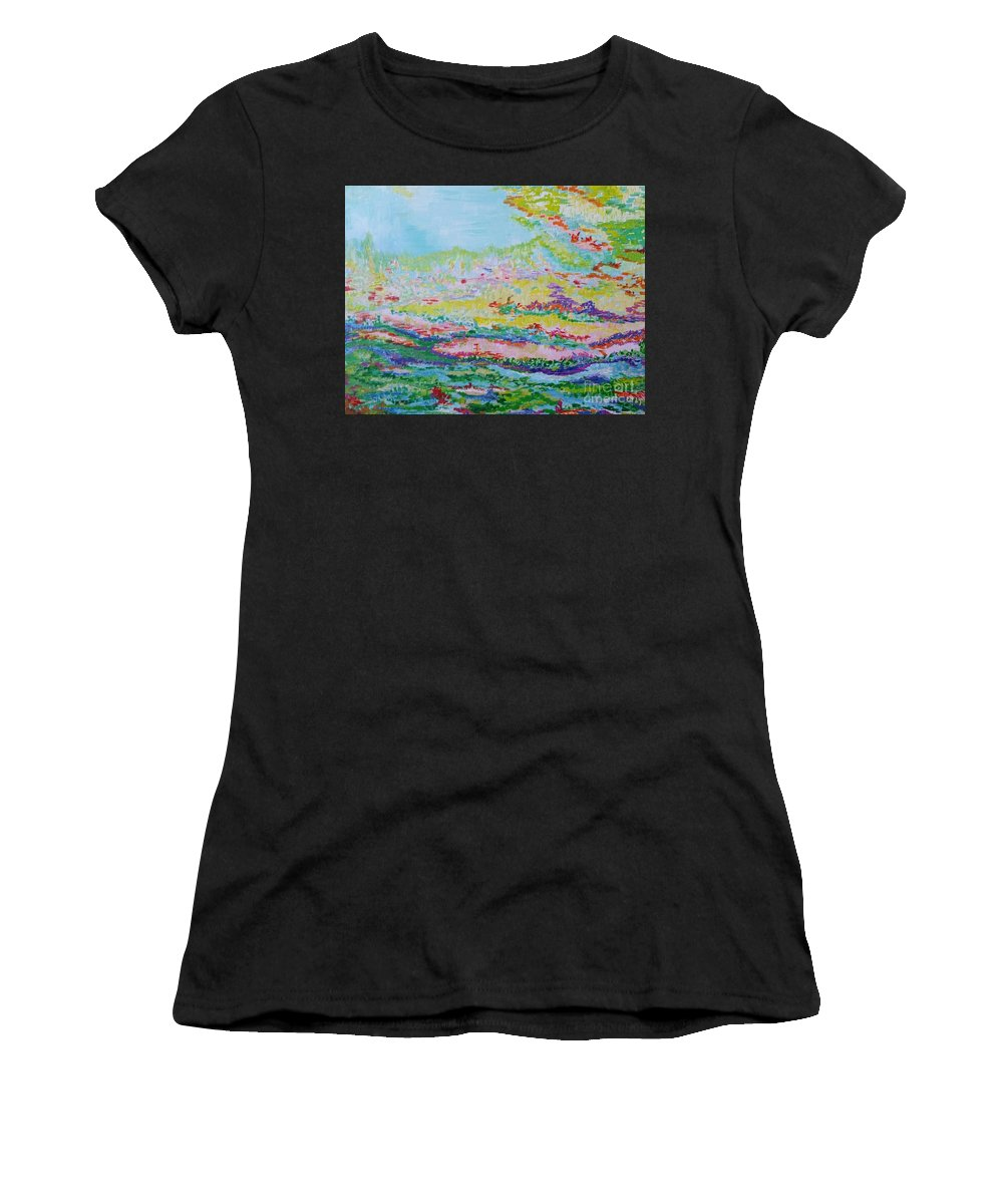 Spring Women's T-Shirt (Athletic Fit) featuring the painting Spring by Anneke Hietbrink