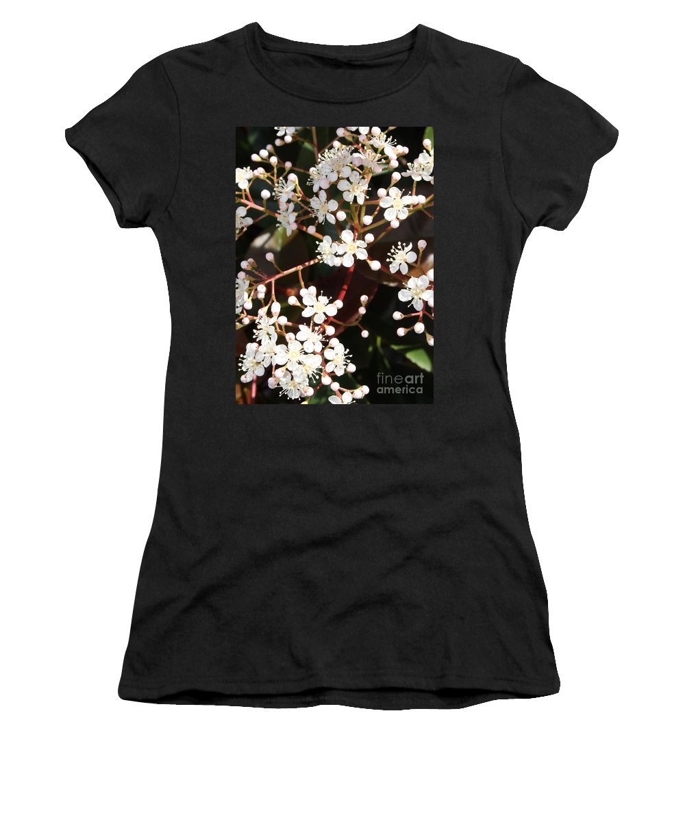 Spring Women's T-Shirt (Athletic Fit) featuring the photograph Spring Blossoms Macro by Carol Groenen