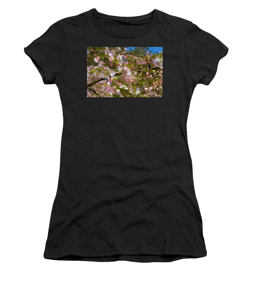 Spring Fling Women's T-Shirt (Athletic Fit) featuring the photograph Spring Fling by Bonnie Follett