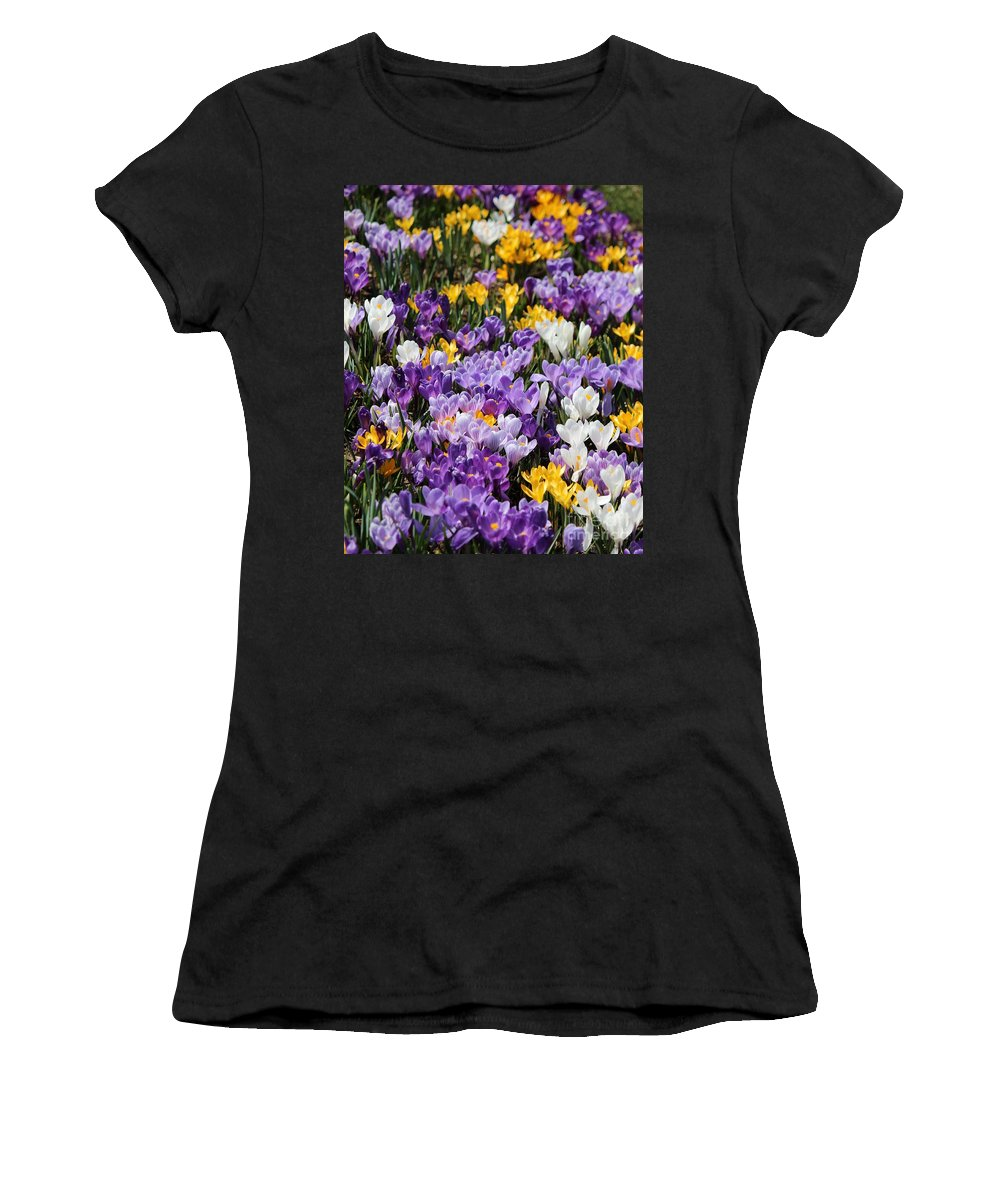 Flower Women's T-Shirt featuring the photograph Spring Fling by Colleen Snow