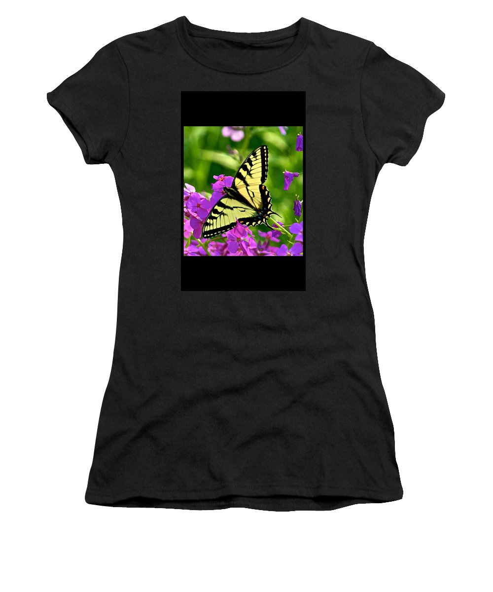 Butterfly Women's T-Shirt (Athletic Fit) featuring the photograph Spring Glory by Robert Pearson