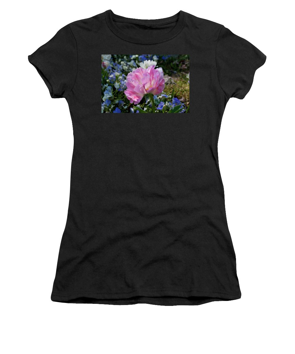 Flower Women's T-Shirt (Athletic Fit) featuring the photograph Spring Petals by Julia McHugh